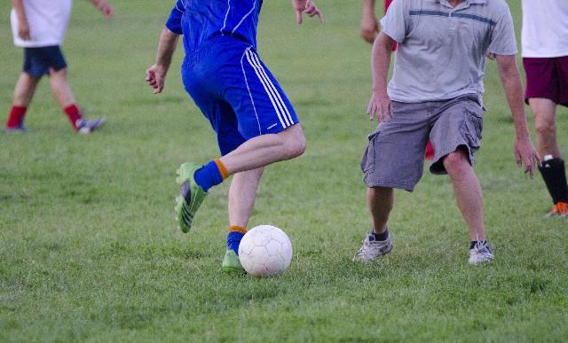 スポーツをしているところ