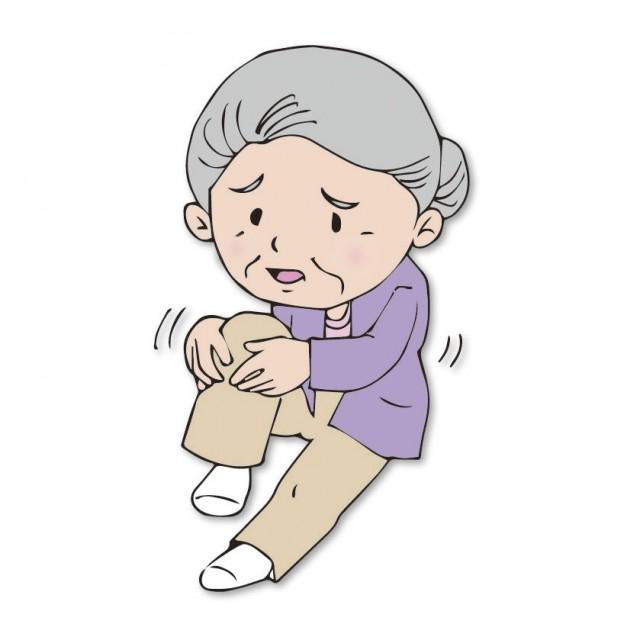 変形性膝関節症の人