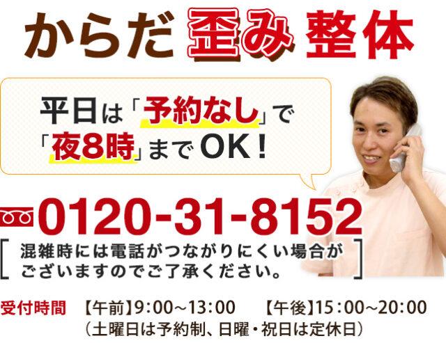 電話番号0120-31-8152